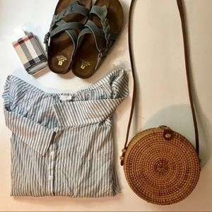 Stripped off the shoulder blouse